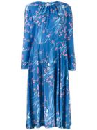 Balenciaga Slide Japanese Print Dress - Blue