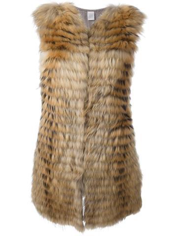 Eleventy Layered Sleeveless Coat