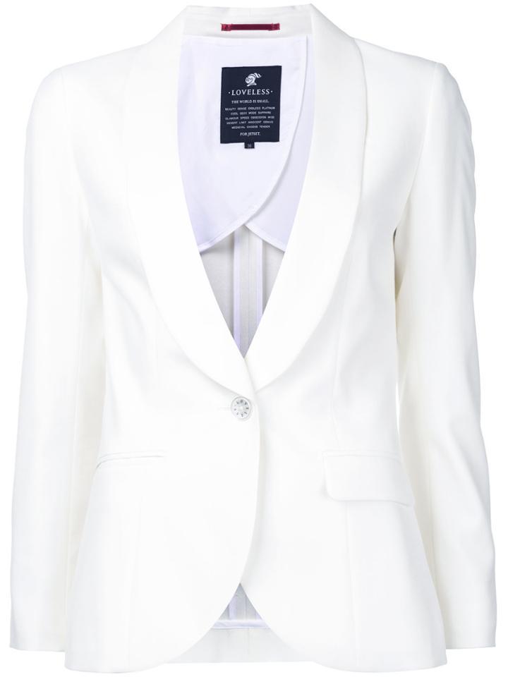 Loveless Tuxedo Blazer - White