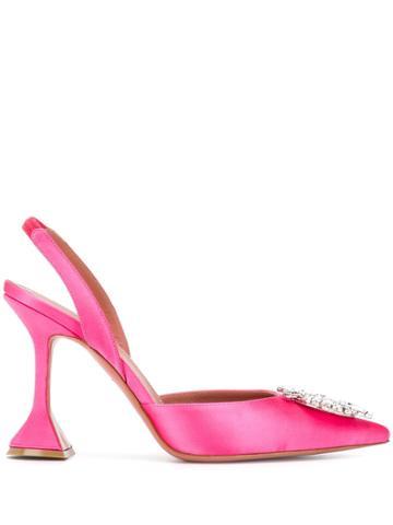 Amina Muaddi Begum Slingback Pumps - Pink