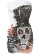 Faith Connexion Sequin Skull Dress, Women's, Size: Xs, White, Polyester