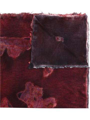 Avant Toi Rusty Effect Scarf - Red