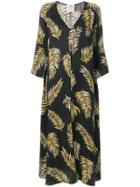 Forte Forte Leaf Print Oversized Dress - Black
