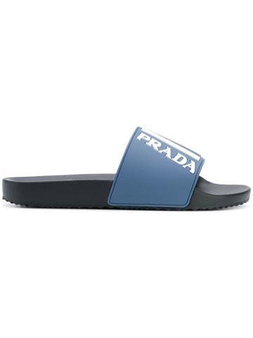 Prada Logo Slides - Blue