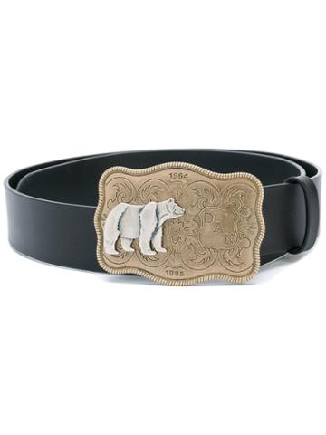 Dsquared2 - Bear Buckle Belt - Women - Leather - 85, Black, Leather
