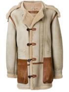 Yeezy Vintage Shearling Duffle Coat - Nude & Neutrals