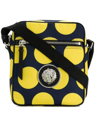 Versus Dot Print Messenger Bag - Blue