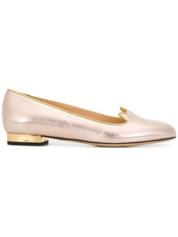 Charlotte Olympia Kitty Flats - Metallic