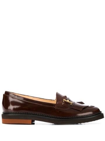 Tod's Fringed Flap Loafers - Red