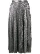 Msgm Pleated Maxi Skirt - Silver