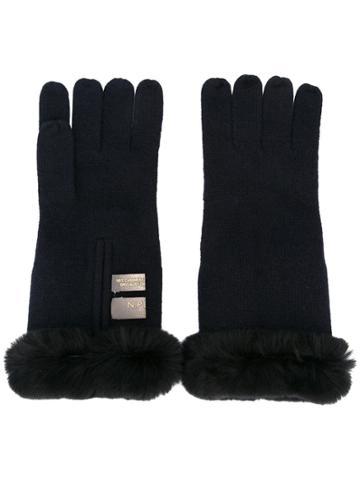 N.peal Cashmere Gloves - Blue