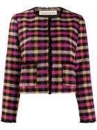 Shirtaporter Cropped Tweed Jacket - Black