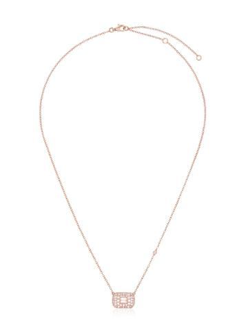 Shay Rose Gold Baguette Diamond Necklace - Metallic