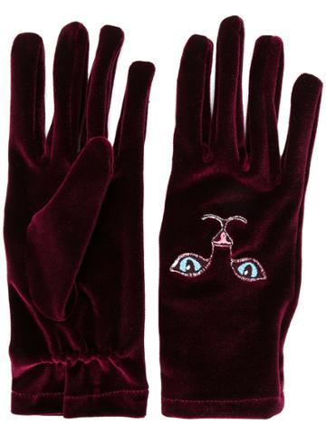 Vivetta Cat Gloves - Red