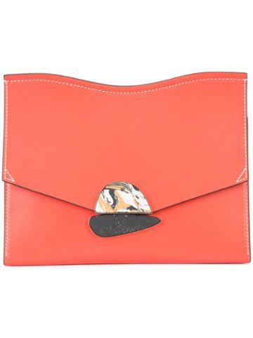 Proenza Schouler Envelope Clutch Bag, Women's, Red, Leather
