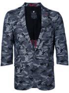 Loveless - Camouflage Blazer - Men - Cotton - 2, Grey, Cotton
