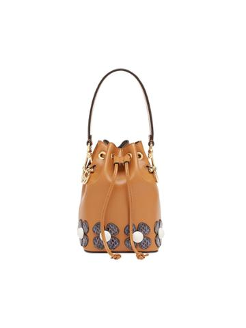 Fendi Mini Mon Tresor Bucket Bag - Brown