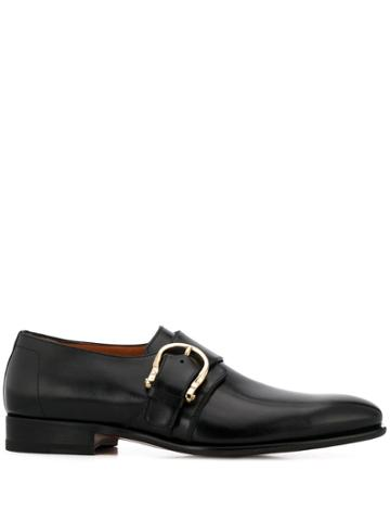 Santoni Buckle Oxford Shoes - Black