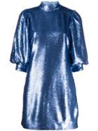 Ganni Sequin Mini Dress - Blue