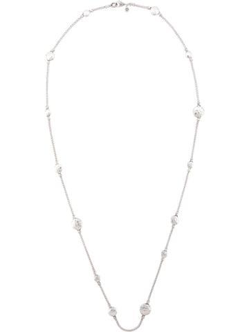 John Hardy Dot Hammered Station Necklace - Silver