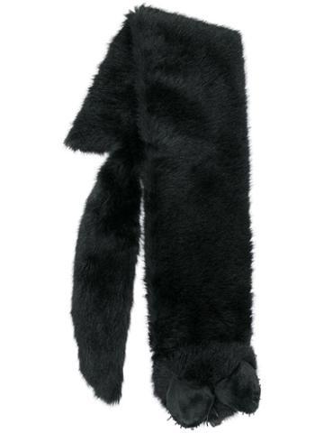 Moschino Fox Motif Scarf - Black