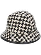 Gucci Houndstooth Fedora Hat - Black