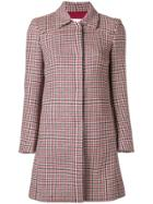 Red Valentino Houndstooth Pattern Coat