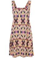 Vivetta Geometric Print Dress - Yellow & Orange