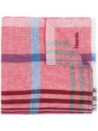 Church's Check Scarf - Red