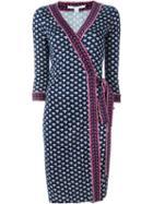 Diane Von Furstenberg Hendrix Band 'julian' Wrap Midi Dress