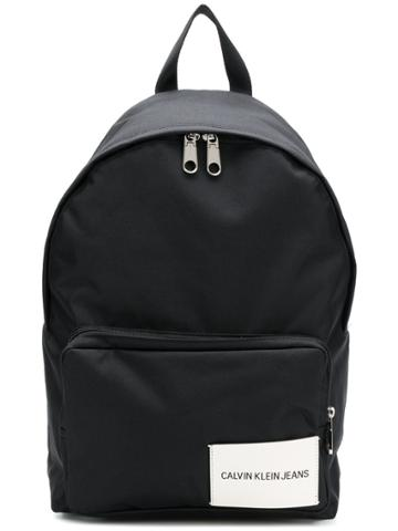 Calvin Klein Jeans Logo Patch Backpack - Black