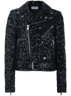Saint Laurent Sequin Biker Jacket - Black