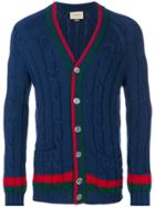 Gucci Cable Knit Cardigan - Blue