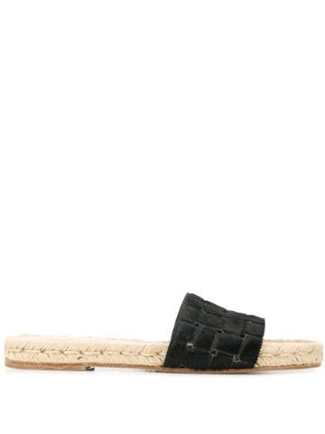 Solange Woven Slides - Black