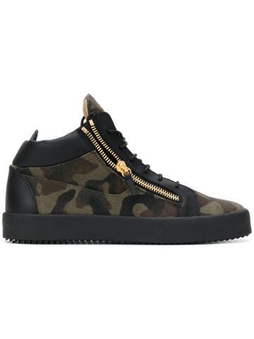 Giuseppe Zanotti Design Jimbo Camouflage Sneakers - Green