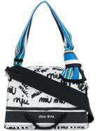 Miu Miu Monogram Shoulder Bag - White