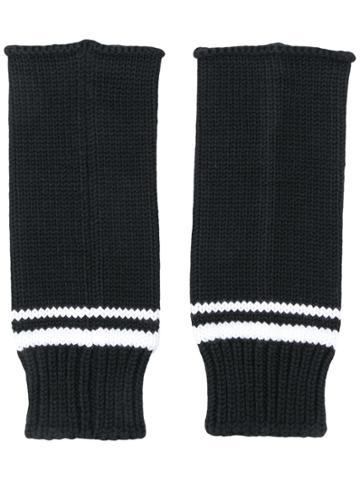 Ermanno Scervino Fingerless Gloves - Black