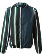 Msgm Striped Hooded Jacket