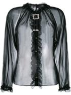 Dolce & Gabbana Sheer Ruffled Blouse