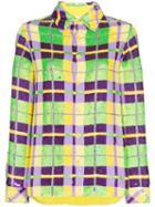 Ashish Sequin Embellished Check Shirt - Multicolour