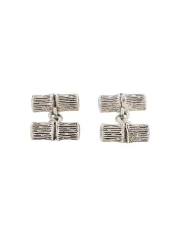 Kenzo Pre-owned Bamboo Cufflinks - Metallic
