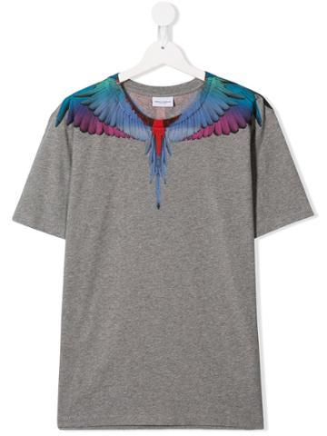 Marcelo Burlon County Of Milan Kids Teen Wings T-shirt - Grey