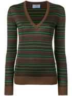 Prada Striped Pullover - Brown