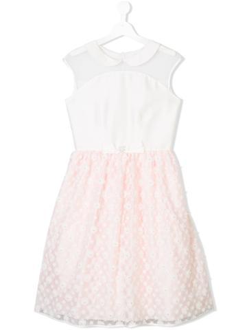Lesy Floral Lace Dress - White