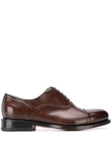 Santoni Oxford Lace-up Shoes - Brown