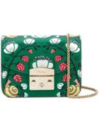 Furla Metropolis Strawberry Print Crossbody Bag - Green