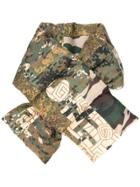 Pierre-louis Mascia Padded Camouflage Scarf - Multicolour