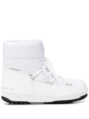 Moon Boot Lace-up Moon Boots - White