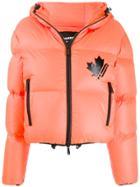 Dsquared2 Hooded Puffer Jacket - Orange