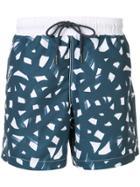 Venroy All-over Print Swim Shorts - Blue